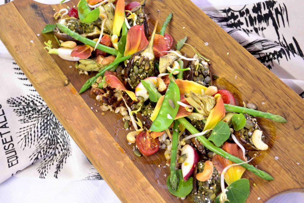 Asparagus and Brinjal Garden Salad