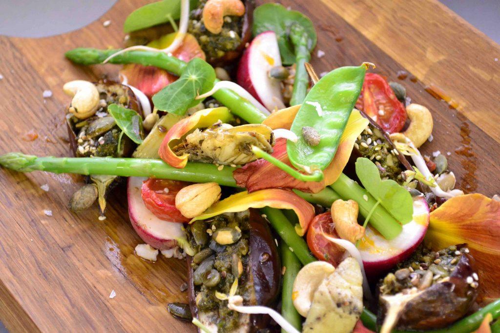 Asparagus and Baby Brinjal Garden Salad