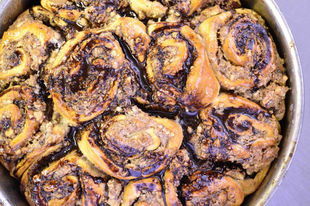 Vegan Cinnamon and Pecan Scrolls
