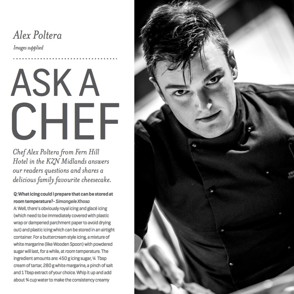 Ginja - Ask A Chef Alex Poltera