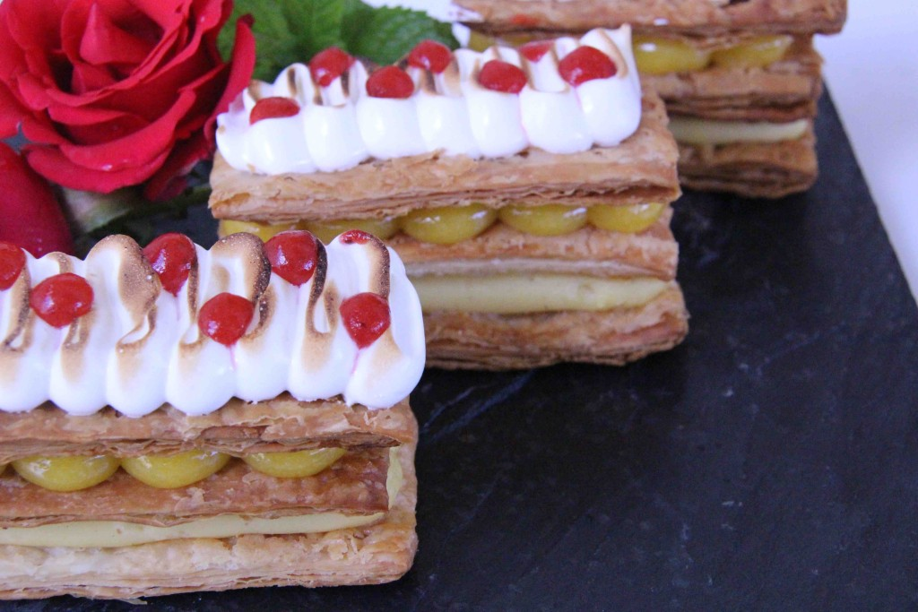 Vanilla and lemon curd Mille-feuille